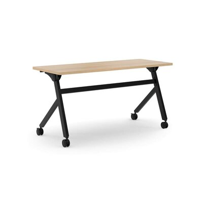 Flipper Training Table with Wheels Tabletop Finish: Wheat, Size: 29 H x 60 W x 23.6 D