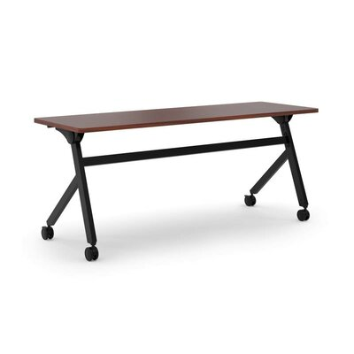 Flipper Training Table with Wheels Tabletop Finish: Chestnut, Size: 29 H x 72 W x 23.6 D