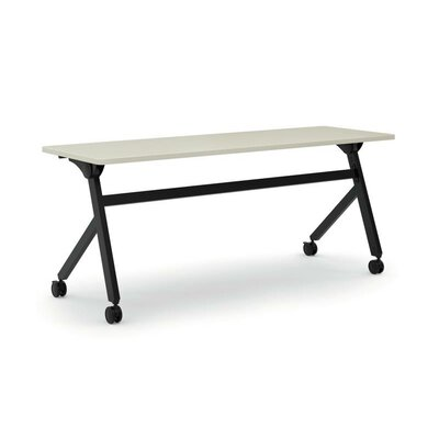 Flipper Training Table with Wheels Tabletop Finish: Light Gray, Size: 29 H x 72 W x 23.6 D