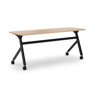 Flipper Training Table with Wheels Tabletop Finish: Wheat, Size: 29 H x 72 W x 23.6 D