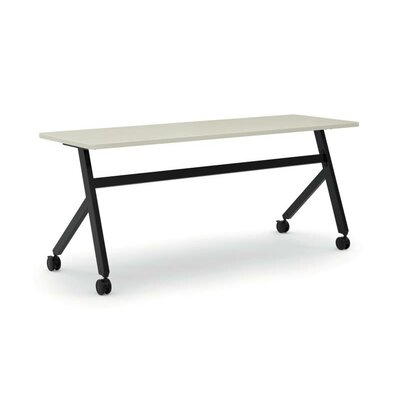 Training Table with Wheels Tabletop Finish: Light Gray, Size: 29 H x 72 W x 23.6 D