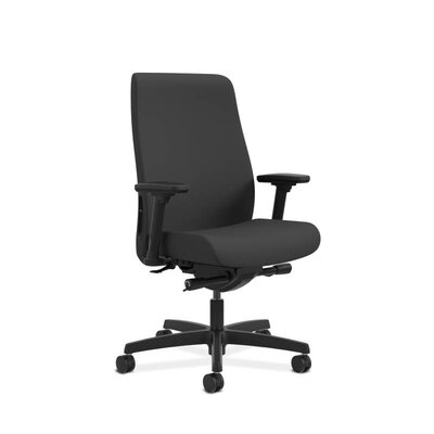 Endorse Upholstered Mid-Back Office Chair Color: Black Product Picture 433