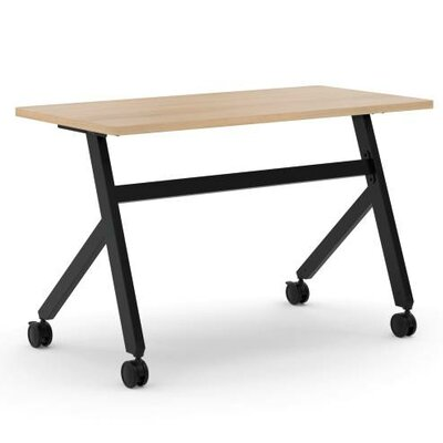 Training Table with Wheels Size: 29 H x 48 W x 23.6 D, Tabletop Finish: Wheat
