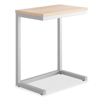 Occasional Cantilever End Table Color: Wheat/Matte Silver