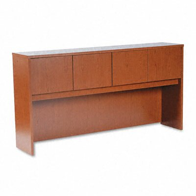 Laminated Desk Hutch Finish: Bourbon Cherry, Doors: Wood, Size: 72 W