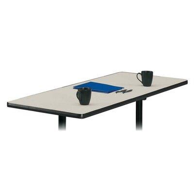 Rectangular Tabletop, No Grommets, Light Gray