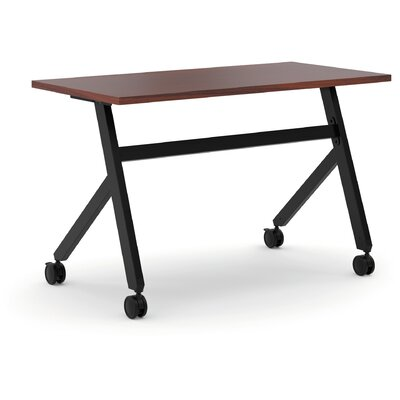 Training Table with Wheels Finish: Chestnut, Size: 29.3 H x 47.2 W x 23.6 D
