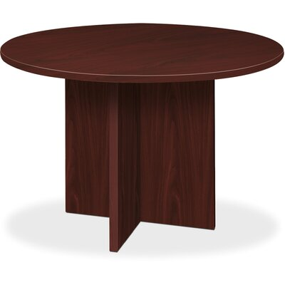 BL Laminate X-Base 4 Circular Conference Table Finish: Mahogany