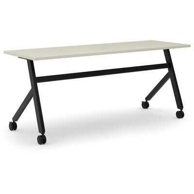 Training Table with Wheels Finish: Light Gray, Size: 29.3 H x 72 W x 23.6 D