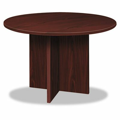4 Circular Conference Table Color: Mahogany