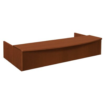 BL Series Reception Station Bow Front Transaction Counter Finish: Medium Cherry
