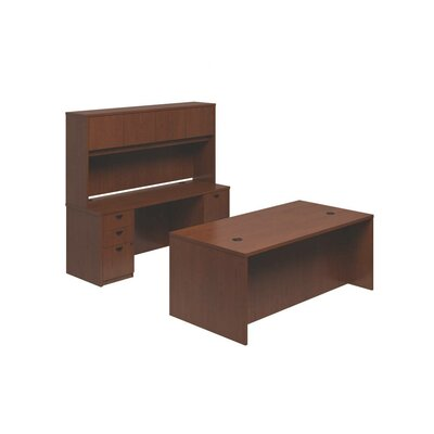 BL Series 3-Piece Standard Desk Office Suite Finish: Medium Cherry Product Picture 1486