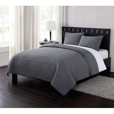 Reversible Quilt Set Size: Twin XL, Color: Gray