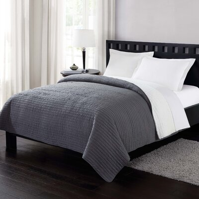 Reversible Blanket Size: King, Color: Gray