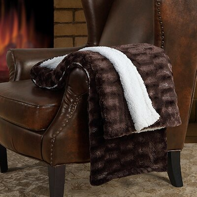 Sable Sherpa Throw Color: Chocolate