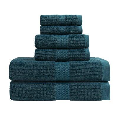 Quick Dry 6 Piece Towel Set Color: Colonial Blue