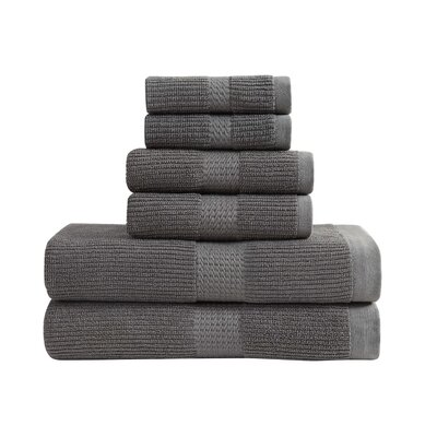 Quick Dry 6 Piece Towel Set Color: Steeple Gray