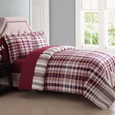 Cornwall Comforter Set Size: Twin XL, Color: Red/Orange