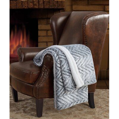Herringbone Carved Sherpa Throw