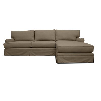 Venice Sectional Upholstery: Brown, Orientation: Right Hand Facing