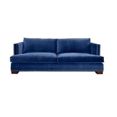 Calais 94 Sofa Upholstery: Blue