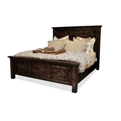 Panel Bed Size: King, Color: Espresso