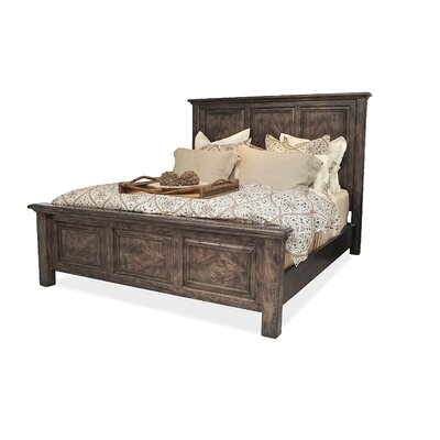 Panel Bed Size: King, Color: Grey