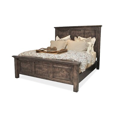 Panel Bed Size: Queen, Color: Grey