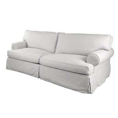 Orleans Slipcover Sofa Upholstery: White