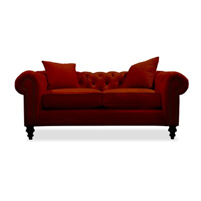 Hanover Tufted 72 Sofa Upholstery: Red