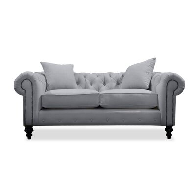 Hanover Tufted 72 Sofa Upholstery: Grey
