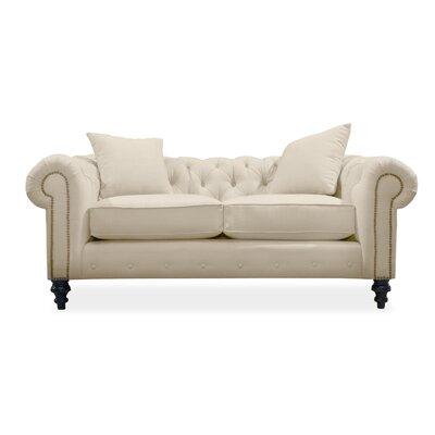Hanover Tufted 72 Sofa Upholstery: Sand