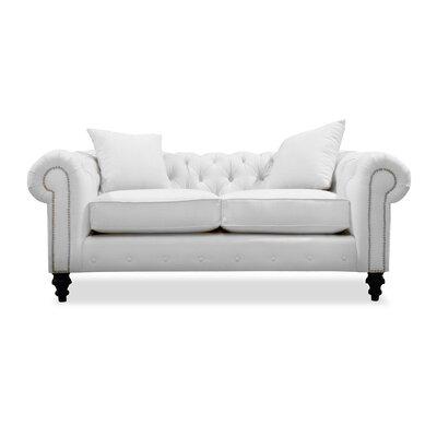 Hanover Tufted 72 Sofa Upholstery: White