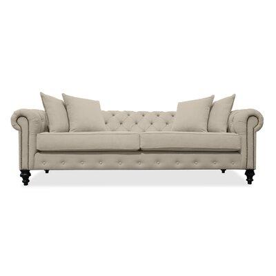 Hanover Tufted 90 Sofa Upholstery: Sand