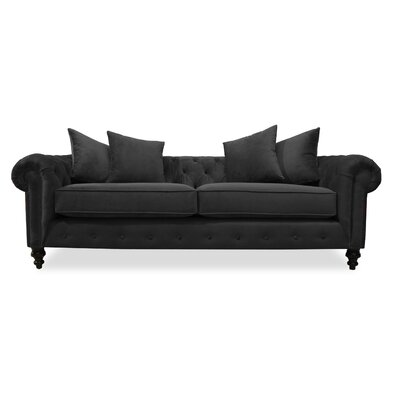 Hanover Tufted 90 Sofa Upholstery: Pewter