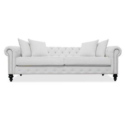 Hanover Tufted 90 Sofa Upholstery: White