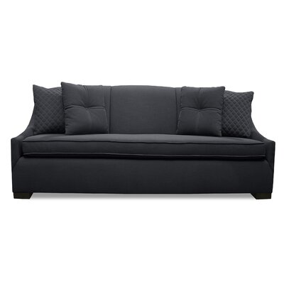 Valentine Lux Sofa Upholstery: Charcoal