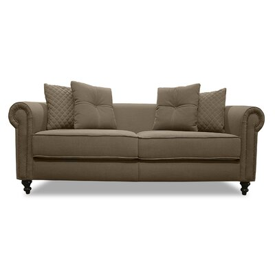 Gautier Lux Sofa Upholstery: Brown