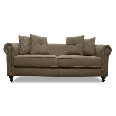 Gautier Lux Sofa Upholstery: Brown