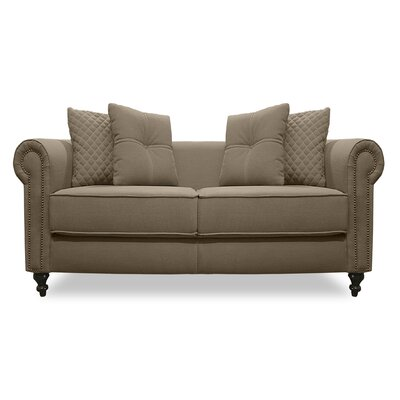 Gautier Lux Loveseat Upholstery: Brown