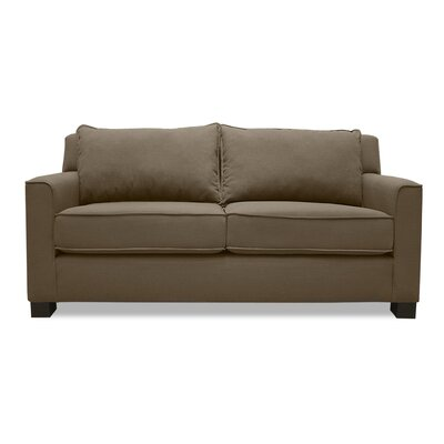 Linton Loveseat Upholstery: Brown