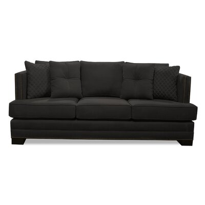 West Lux Loveseat Upholstery: Charcoal