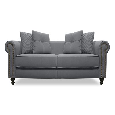 Gautier Lux Loveseat Upholstery: Gray