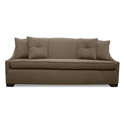 Valentine Lux Sofa Upholstery: Brown