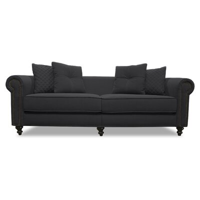 Gautier Lux Sofa Upholstery: Charcoal