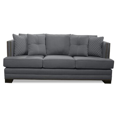 West Lux Loveseat Upholstery: Gray