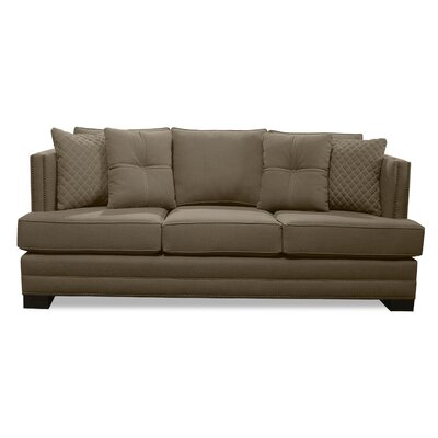 West Lux Loveseat Upholstery: Brown