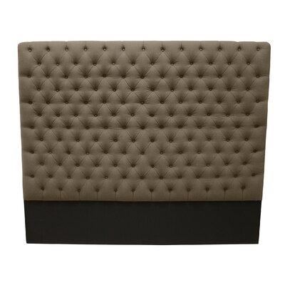Franck Upholstered Panel Headboard Upholstery: Brown, Size: King