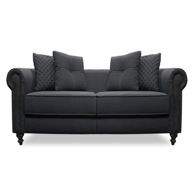 Gautier Lux Loveseat Upholstery: Charcoal
