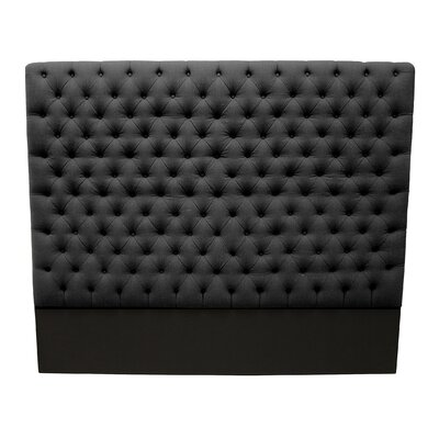 Franck Upholstered Panel Headboard Size: Queen, Upholstery: Charcoal